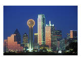 Dallas TX Skyline At Night Prints
