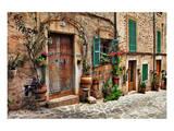 Old Mediterranean Towns Street Prints