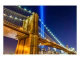 WTC Light over Brooklyn Bridge Poster
