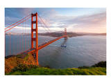 Golden Gate Bridge At Sunset Posters