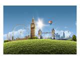 Composition London Landmarks Posters