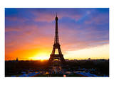Eiffel Tower at Sunset Paris Prints