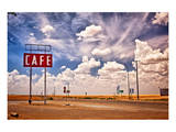 Cafe Sign Route 66 In Texas Print