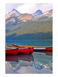 Canoes Turquoise Lake Canada Prints
