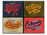 Retro Illustration Typography Prints
