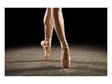 Ballerina Balancing En Pointe Sztuka