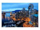 Nightfall Vancouver Canada Print