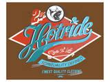 Hotride Retro Race Poster Premium Giclee Print