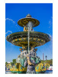 Fountain Place Concorde Paris Print