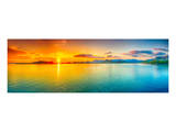 Sunrise Over The Sea Panorama Posters