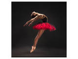 Ballet Dancer Red Tutu Print
