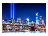Commemoration Lights Manhattan Poster