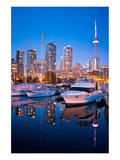 Toronto Harbor Area at Dusk Print