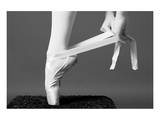 Ballerina Tying up Point Shoes Premium Giclee Print