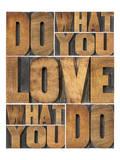 Motivational: Do What You Love Wydruk giclee premium