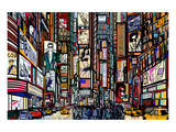 New York Times Square Pop Art Prints