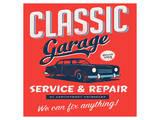 Vintage Design Classic Garage Posters