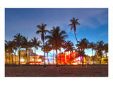 Miami Beach Hotels on Ocean Dr Prints