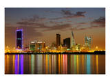 Bahrain Highrises Reflections Plakater