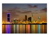 Bahrain Highrises Reflections Prints