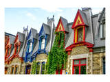 Montreal Victorian Color Gables Prints