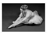 Ballerina Tying Up Point Shoes Poster
