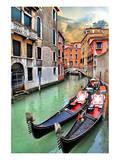 Romantic Gondola Venice Scene Art