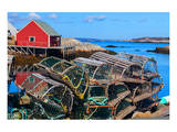 Lobster Traps Peggy's Cove NS Prints