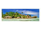 Seychelles La Digue-D'Argent Giclee-tryk i høj kvalitet