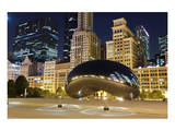 Millennium Park Chicago Cloud Poster