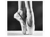 Ballerina's Pointes Black&White - Poster