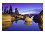 Lake Tahoe Sunset and Boulders Prints