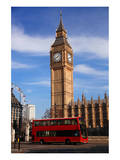 Big Ben City Bus In London Uk Prints