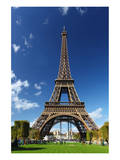 Eiffel Tower with Park Paris Poster