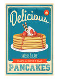 Vintage Pancakes Sign Posters