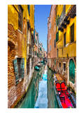 Gondola Canal Venice Italy Print