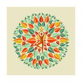 India Yoga Mandala Posters by  cienpies