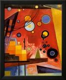 Kraftig rød Plakat af Wassily Kandinsky