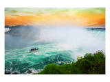 Colorful Niagara Falls Sunset Poster