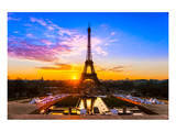 Eiffel Tower At Sunrise Paris Prints