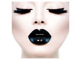 Model Black MakeUp Long Lushes Poster