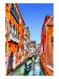 Traditional Gondolas in Venice Prints