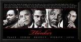 Thinker (Quintet): Peace, Power, Respect, Dignity, Love Plakát