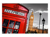 Red Telephone Big Ben London Print