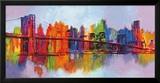 Brian Carter - Soyut Manhattan - Poster