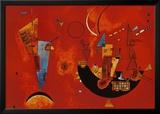 Mit und Gegen, ca.1929 Poster von Wassily Kandinsky