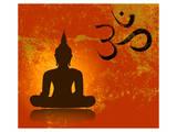 Buddha and Om Symbol Print