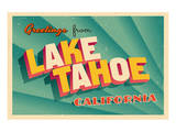 Vintage Card - Lake Tahoe CA Art