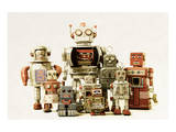 Collection Small &Large Robots Poster