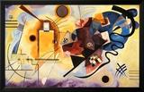 Geel, rood en blauw, ca.1925 Poster van Wassily Kandinsky